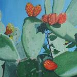 opuntia ficus indaca 120 x 60 cm acrilico su tela (sold)