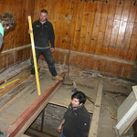 Trapdoor in ringing chamber floor