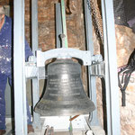 One of the new bells in place