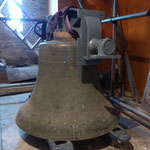 A bell waiting to be lifted