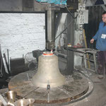Finishing a bell (not ours)