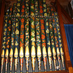 Organ Pipes. hand painted in 1874 by Miss Edith Wyllys