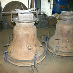 Our new bells ready for casting