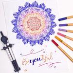 Mandala Stickynote Lettering