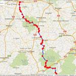Jour 1: Tour/Mauriac, 375 kms