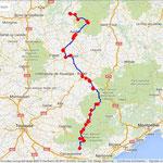 Jour 2: Mauriac/Caunes-Minervois, 394 kms