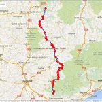 Jour 8: Cuxac Cabanès/Marcillac-la-Croisille, 361 kms