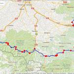 Jour 3: Caunes-Minervois/St Béat, 354 kms