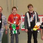 Die 3 Besten des A-Finales (Leon 1. ; Wolfgang 2.) und Stephan als Sieger des B-Finales
