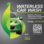 Etikett: Eco Touch Waterless Car Wash: Alternative zur Waschstraße, entfernt schonend Schmutzpartikel, 3-4 Autowäschen pro Flasche. Testsieger: BEST BUY 2012