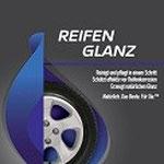 Etikett: Eco Touch Reifenglanz: reinigt und pflegt in einem Schritt, schützt effektiv vor Reifenkorrosion, erzeugt natürlichen Glanz. Natürlich. Das Beste. Für Sie.