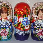 Фотопечать лица с цветочной росписью