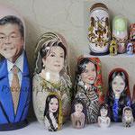 Матрешка портретная с ручной росписью лица