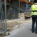 absichern der Baustelle