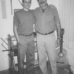 Con Walter Heinze, Rosario, 1999.