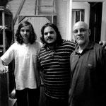 Con Lisandro Coronel y Pablo Gurrieri. Rosario.