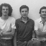 Trío Escarbanda. Marcelo Coronel, Marcelo Lastra y Julio Fioretti. Ca 1987.