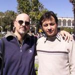 Con Rubén González. Arequipa, Perú. 2007.