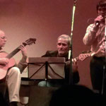 Con Julio Fioretti y Lucas Fedyszyn. Rosario.