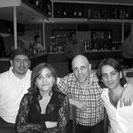 Ricardo Cianferoni, Berta Rojas, Marcelo Coronel y Aníbal Palasolo. Rosario, 2006.