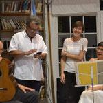 Presentación del libro Jardines. Con Raúl Feroglio, María Amalia Maritano y Mariana Finochietto. Las Rosas. 2016