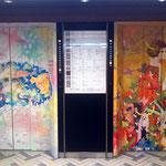 LUMINE meets ART 2012  新宿ルミネエレベータ内.外(1~8階)