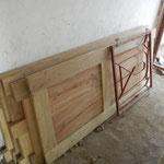 Die Zimmertüren sind fertig zum Einbau