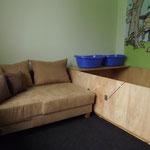 meine zukünftige Schlafstätte neben der Wurfbox