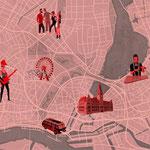 Vektor-IIllustration - Stadtplan Hamburg - Kunde: Campari