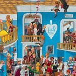 Lustige Wimmelbild Illustration für Heye Puzzles - Casino