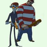 Freie Character-Designs - Verbrecher und Gorilla