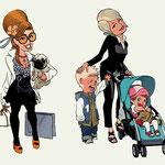 IIllustrationen für Fernseh-Typen - Kunde: Tele 5 - Agentur: Klondike