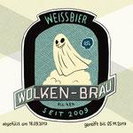 Bieretikett - Gespenst/ Weissbier - Kunde: Wolkenbräu