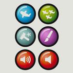 Icons für iPad Kinder App - Navigations Buttons - Kunde: Lufthansa