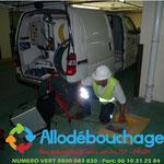 Plombier Debouchage inspection colonne immeuble Nimes