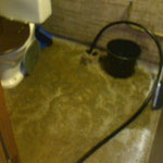 Inondation suite a wc bouché plombier urgent