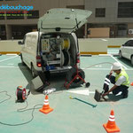 Inspection vidéo Caméra colonne eaux de pluie parking