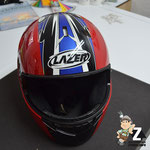 Folierung Motorradhelm MZ