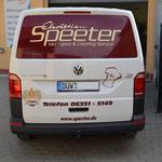 KFZ Beschriftung Metzgerei Speeter
