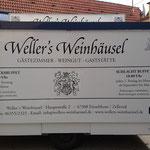 Beschriftung Ausschankwagen Wellers Weinhäusel Einselthum
