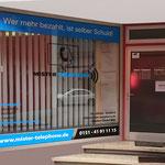 Schaufensterbeschriftung Telefon Geschäft Nittenau