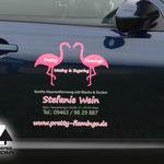 KFZ Beschriftung Pretty Flamingo