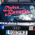 Heckscheibenbeschriftung Dolce Bavaria