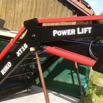 Logo Aufkleber PowerLift Traktor Beschriftung