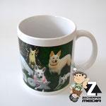 Kaffeetasse Hunde Collage