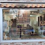 Schaufensterbeschriftung Teppichreinigung Alzey