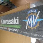 Kawasaki Werbeschild MCR