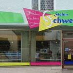 Schaufenstergestaltung und Werbeschild Bäckerei Schweiger Nittenau
