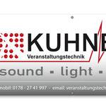 PVC Banner Veranstaltungstechnik Kuhnert