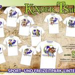 Schild Kinder Tshirts Sportpark Linter